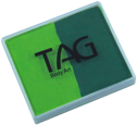 Picture of TAG Light Green & Medium Green Split Cake 50g