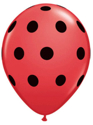 "Picture of 5"" Big Polka Dots Qualatex Balloon (100/bag)"
