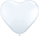Picture of 6 Inch Heart - White (100/bag)