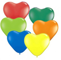 Picture of 6 Inch Heart - Carnival Assortment (100/bag)