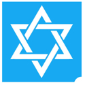 Picture of Star of David stencil (ABA) 1pc