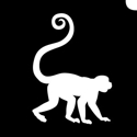 Picture of Small Monkey - Stencil (5pc pack)