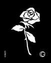 Picture of Basic - HD Stencil - Rose - B13 (4pc/pk)