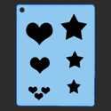 Picture of Heart and Star Group Stencil - SOBA-24