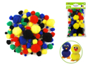 Picture of Pom-Poms Mixed Color and Size (90pc)