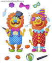 Picture of Foam-Fun Dress-Me-Up Stickers (Lion- Clown)