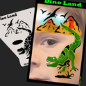 Picture of Dino Land Stencil Eyes Profiles - SOBA