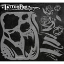 Picture of Tattoo Pro Stencil - Roses & Scrolls (ATPS-104)