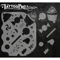 Picture of Tattoo Pro Stencil - Sweet Treats (ATPS-110)