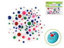 Picture of Paste-On Googly Eyes: Assorted Colors 5mm-20mm 92/pk