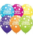 "Picture of 11"" 6 Count Print Retail Pack Birthday Big Polka Dots (6/Bag)"