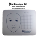 Picture of Jest Design It Face Painting Practice Board - Adult and Grid