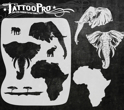 Picture of Tattoo Pro Stencil - African Elephant (ATPS145)