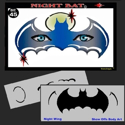 Picture of Night Bat Stencil Eyes - 45SE-C - (Child Size 4-7 YRS OLD)