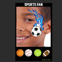 Picture of Sports Fan Stencil Eyes Profiles- SOBA