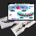Picture of Queen of Hearts Stencil Eyes - 61SE