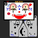 Picture of Rexy the Clown Stencil Eyes - 67SE