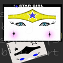 Picture of Star Girl Stencil Eyes - SE