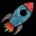 Picture of Rocket - Sparkle Stencil (1pc)