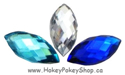 Picture of Pointed Eye Gems - Frozen Set - 7x15mm (15 pc) (AG-PE2)