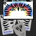 Picture of Blue Pandora Stencil Eyes - 05SE