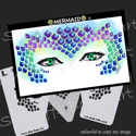 Picture of Mermaid Stencil Eyes - SEc - (Child Size 4-7 YRS OLD)