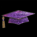 Picture of Grad Cap - Sparkle Stencil (1pc)