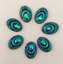 Picture of Big Peacock Gems - Deep Green - 13x18mm  (7 pc.) (SG-BP5)