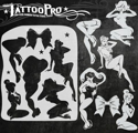 Picture of Tattoo Pro Stencil - Pinup Girls (ATPS-149)