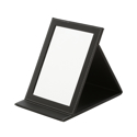 Picture of Folding Faux Leather Mirror - Black (25cm x 18cm)