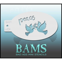 Picture of Bad Ass Mini Holiday Stencil - Peace Doves - H01