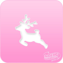 Picture of Pink Power Face Painting Stencil (1122) - Reindeer