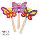 Picture of Krafty Kids Kit: DIY Foam Character Stick Puppets -  Flutter Friends (3pc)