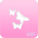Picture of Pink Power Face Painting Stencil (1006) - 3 Butterflies