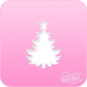 Picture of Pink Power Face Painting Stencil (1038) - Christmas Tree
