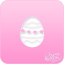 Picture of Pink Power Face Painting Stencil (1080) - Easter Egg