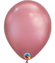 "Picture of 11"" Chrome MAUVE round balloons - 100 count"