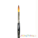 Picture of La Corneille Golden Taklon Round Brush 7000 - #12