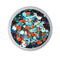 Picture of Vivid Glitter Loose Glitter - Energy - Orange & Aqua Gameday  (25g)