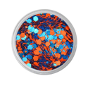 Picture of Vivid Glitter Glitter Gel - Dominance - Orange & Blue Gameday  (25g)