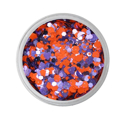 Picture of Vivid Glitter Glitter Gel - Fearless - Purple & Orange Gameday (25g)