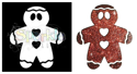 Picture of Gingerbread Man - Sparkle Stencil (1pc)