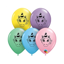 "Picture of 5"" Unicorn Head Pastel Assortment - Qualatex Balloon (100/bag)"