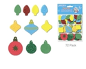 Picture of Foam-Fun Glitter Sticker Shapes - Holiday Ornaments (KX082)