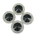 Picture of Double Round Gems - Black - 20mm (4 pc.) (SG-DRBL)