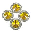 Picture of Double Round Gems - Yellow - 20mm (4 pc.) (SG-DRY)