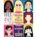 Picture of Melissa & Doug - Make-a-Face Sticker Pad - Fashion Faces (250 Stickers)
