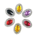 Picture of Double Oval Gems - Spooky Set - 13x18mm (6 pcs) (AG-DO4)