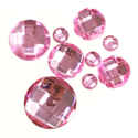 Picture of Round Gems - Pink - 5 to 20mm (9 pc) (SG-RP)
