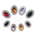Picture of Multi Double Oval Gems - Spooky Set - 9x14mm & 13x18mm (8 pcs) (AG-MDO3)